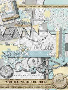 Paper Frost Value Collection$8.49 : Digital Scrapbook Place, Inc. , High Quality Digital Scrapbook Graphics