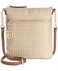 9dc747f854d7e Tommy Hilfiger Sharon Monogram Jacquard North South Small Crossbody    Reviews - Handbags   Accessories - Macy s
