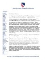 LULAC letter to Members of Congress requesting Co-Sponsorship of & the Borinqueneers Congressional Gold Medal Act! Congressional Gold Medal, United States Congress, Members Of Congress, State Government, The Unit, Lettering, Calligraphy, Letters, Character