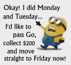 For the love of minions here are some best Most hilarious Funny Minions Picture Quotes . ALSO READ: Minion Birthday Meme ALSO READ: Top 20 funny pumpkin faces Friday Quotes Humor, Wednesday Memes, Happy Wednesday, Funny Quotes, Tuesday, Happy Friday, Motivational Quotes, Monday Quotes, Funny Phrases