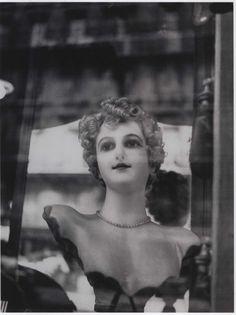 "Dora Maar, ""Model in the window"", Paris, Doll pretending to be a woman and woman pretending to be a doll Dora Maar Picasso, Pablo Picasso, Surrealist Photographers, Guernica, Black And White, Portrait, Artwork, People, Painting"