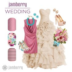 Whether you are a bride, bridesmaid, or a guest, a wedding is the perfect time to look your best while staying true to your personal style! Spruce up your dress or outfit with matching Jamberry nail wraps! Pink Wedding Nails, Wedding Manicure, Jamberry Wedding, Uñas Jamberry, Jamberry Combos, Jamberry Style, Jamberry Consultant, Jamberry Outfits, Jamberry Wraps