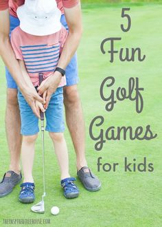The Inspired Treehouse - 5 FUN GOLF GAMES FOR KIDS - Simple gross motor golf games: easy set-up and lots of fun!