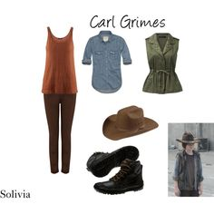 """Carl Grimes"" by Solivia on Polyvore!"