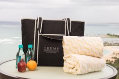 All Trump Waikiki hotel guests have access to our complimentary beach bag, complete with towels, water and fresh fruit for your Hawaiian adventures!