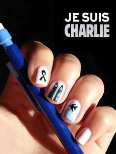 Nailstorming #25 - Je suis Charlie (2)