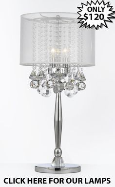 GO T204 GM C0036T W Gallery Table Lamps Silver Mist 3 Light
