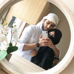 Image may contain: 1 person, phone, hat and indoor Cute Muslim Couples, Romantic Couples, Cute Couples, Cute Couple Selfies, Cute Couple Pictures, Muslim Love Quotes, Love In Islam, Muslim Couple Photography, Arab Couple