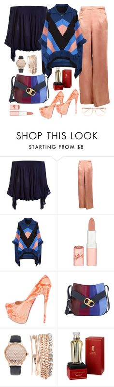 """""""Chloe"""" by felicitysparks ❤ liked on Polyvore featuring Sans Souci, Boohoo, STELLA McCARTNEY, Rimmel, Christian Louboutin, Tory Burch, Jessica Carlyle, Cartier and Chloé"""