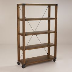 Reminiscent of European bookshelves from the early century, our Warner Bookshelf has antique industrial charm. Room Divider Bookcase, Ladder Bookcase, Bookshelves, Furniture Inspiration, Interior Inspiration, Computer Armoire, Living Room Orange, Cabinet Shelving, Modern Bookcase