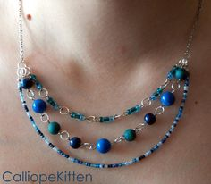 Projects on Craftsy: Triple Tier Necklace from CalliopeKitten
