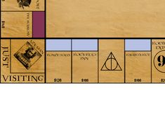 Just click the link below and save everything and print! Harry Potter Monopoly (print it yourself) Harry Potter Monopoly, Harry Potter Games, Harry Potter Christmas Decorations, Hagrids Hut, Hogwarts, Diy Games, Board Games, Geek Stuff, Cards