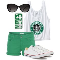 "this is literally the sixth grade girl package right here,""OH YEAH STARBUCKS let me post it on isntagram oh yeah"" *gets five likes* Outfits For Teens, Summer Outfits, Casual Outfits, Summer Wear, Teen Fashion, Fashion Outfits, Womens Fashion, Super Moda, My Starbucks"