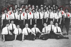 This rare picture, taken at Bletchley where photography during wartime were strictly forbi...
