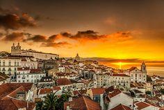 Sunrise at Alfama, Lisbon, Portugal