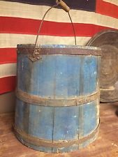 Blue Vintage Bucket - Same as the Red Vintage Bucket, its straight design is unusual and could put of those who view logo, who might be expecting something more conical.