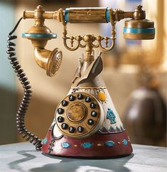 this awesome phone would be PERFECT in my office, which is totally native american decor!! Most of which I personally acquired over the years digging up ancient sites and through my grandmother's travels. I WANT THIS PHONE!