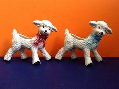 shawnee pottery lamb planters baby lamb planter by Oldtreasures98, $26.00