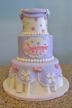 Cheyenne's a-freaking-dorable Princess Sophia first birthday cake by Sugarland in Raleigh and Chapel Hill