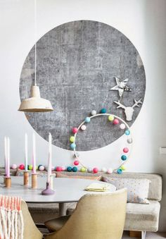 SALON // CONCRATE WALL // COTTON BALL LIGHTS