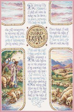 23rd Psalm - Cross Stitch Kit