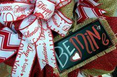 Valentine Burlap Wreath Be Mine Burlap by Underthekentuckysun