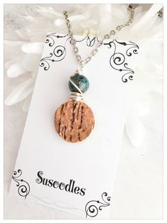 Wine Jewelry Wine cork jewelry Wire wrapped pendant Repurposed jewelry Susoodles Etsy Seller