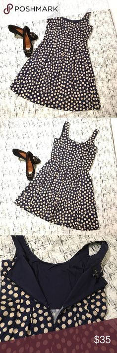 Nine West Sleeveless Polka Dot Pleats A lineDress Gently used with no flaws.   97% Cotton 3% Elastane Nine West Dresses