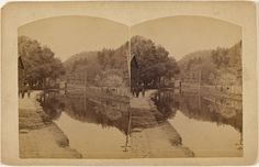D & H Canal likely Orange Co NY?; W.H. Allerton; about 1865 - 1875; Albumen silver; 84.XC.979.863; Gift of Weston J. and Mary M. Naef