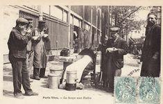 Les Halles. La soupe. 1852.