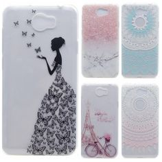 Transparent Phone Cases For Huawei Y5II/ Y5 II/ Y5 2 Case Silicone Back Cover For LYO-L2 Huawei Y6 II Compact Butterfly Girl