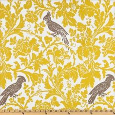 bird fabric for pillow by t-mo