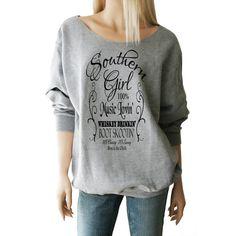 Southern Girl Sweatshirt Southern Girl Shirt Southern Shirts Country... ($29) ❤ liked on Polyvore featuring tops, hoodies, sweatshirts, sweatshirt, grey, women's clothing, grey crew neck sweatshirt, crew-neck sweatshirts, crewneck shirts and grey sweatshirt