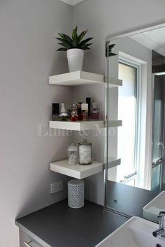 Ikea Lack Shelves, Lack Shelf, Floating Shelves, Corner Shelves, Wall Shelves, Box Shelves, Small Bathroom Storage, Bathroom Shelves, Bathroom Organization
