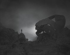 "Autor of the picture: Dawid Planeta - Associated quote:""Fear is the ghost of ancient. It consumes faithless human."" ― Toba Beta, My Ancestor Was an Ancient Astronaut"