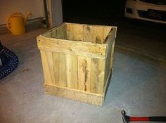 built planter box out of an old pallet, gardening, pallet, e g My NFinally assembled with wood glue and a nail gun ew Deck
