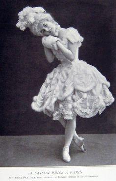 """Anna Pavlova dans """"Le pavillon d'Armide"""", 1909 ballets russes"""