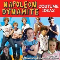 Napoleon Dynamite costume ideas. Full guide at: http://costumeplaybook.com/movies/2810-napoleon-dynamite-costumes/