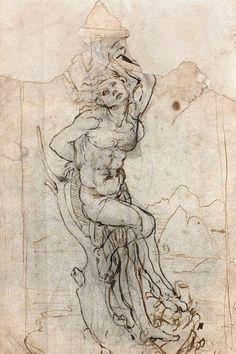 Во Франции случайно нашли рисунок Леонардо да Винчи
