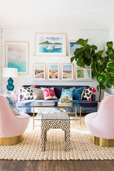 bright, fun vibes in the living room