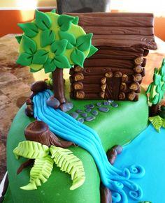 ,Log cabin cake