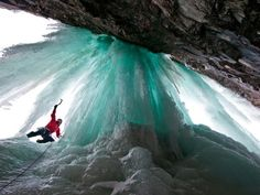 Ice Climbing in Eidfjord, Norway (Photo by Christian Pondella). National Geographic, Trekking, Places Around The World, Around The Worlds, Underwater Sculpture, Surf, Les Cascades, Fjord, Ice Climbing