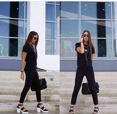 'Trends Control' blog in #total_black #BSB_FW14  #BSB_jumpsuit Total Black, Fashion Blogs, Jumpsuit, Trends, Dresses, Overalls, Vestidos, Jumpsuits, Catsuit