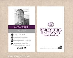 12 Best Berkshire Hathaway Realty Agent Business Card Templates