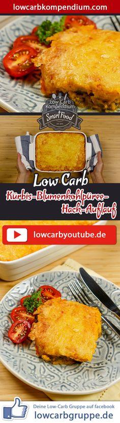 Ein weiteres leckeres Low Carb Rezept der Saison - Köstliches Kürbis-Blumenkohlpüree, herzhaft kombinieret mit Rindergehacktem und vereint in einem feinen Auflauf, das ist unser Kürbis-Blumenkohlpüree-Hack-Auflauf.