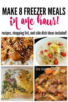 Make 8 Freezer Meals