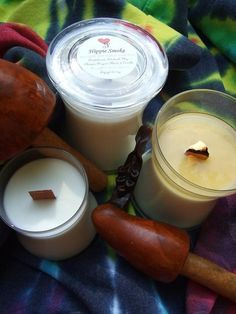 I swear by woodwick candles! LOVE!!!HIPPIE SMOKE All Natural SOY Candle with by HeartJCreations, $12.00
