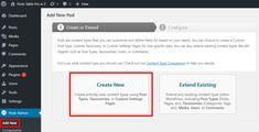 how to create a new custom post type