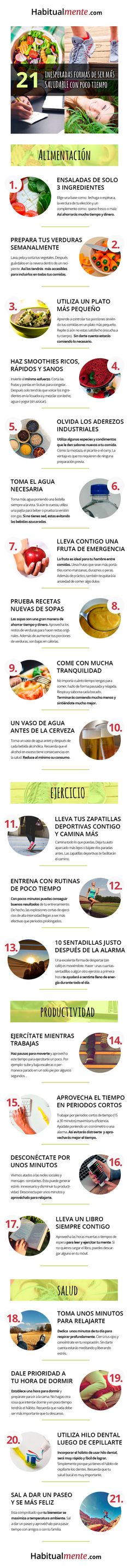 #Infografia 21 formas inesperadas de tener hábitos sanos via @taniahabitos