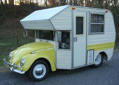 Volkswagen Beetle Camper Van, now that is camping Vintage Campers, Camping Vintage, Vw Vintage, Vintage Travel Trailers, Retro Campers, Rv Campers, Luxury Campers, Vintage Motorhome, Rv Bus